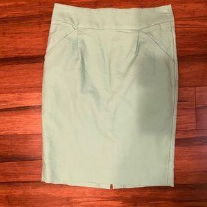Jcrew sz 0 turquoise pencil skirt